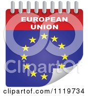 Clipart Of A European Union Calendar Royalty Free Vector Illustration by Andrei Marincas