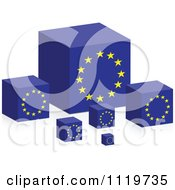 Clipart Of 3d Europe Flag Cubes Royalty Free Vector Illustration by Andrei Marincas