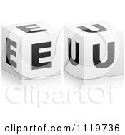 Clipart Of 3d Gold EU Cubes Royalty Free Vector Illustration by Andrei Marincas