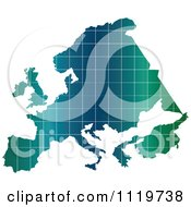Clipart Of A Gradient Europe Map Royalty Free Vector Illustration by Andrei Marincas