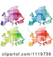 Clipart Of Colorful European Maps Royalty Free Vector Illustration by Andrei Marincas