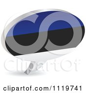 Clipart Of A 3d Estonian Flag Chat Balloon Royalty Free Vector Illustration by Andrei Marincas