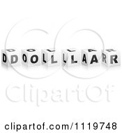 Clipart Of 3d Dollar Cubes Royalty Free Vector Illustration by Andrei Marincas