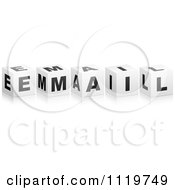 Clipart Of 3d Email Cubes Royalty Free Vector Illustration
