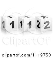 Clipart Of 3d 112 Cubes Royalty Free Vector Illustration by Andrei Marincas