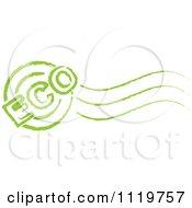 Green Eco Postmark Stamp