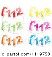 Clipart Of Colorful Emergency 112 Telephone Scribbles Royalty Free Vector Illustration by Andrei Marincas