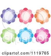 Clipart Of A Colorful Flower Icons Royalty Free Vector Illustration by Andrei Marincas