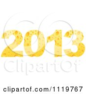 Clipart Of The Year 2013 In Cheese Royalty Free Vector Illustration