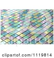 Clipart Of A 3d Shiny Pastel Tile Background Royalty Free CGI Illustration