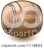 Cartoon Of A Wine Or Beer Barrel Keg Royalty Free Vector Clipart by Leo Blanchette