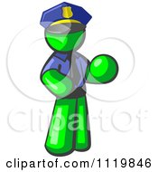 Lime Green Man Police Officer