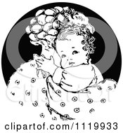 Clipart Of A Retro Vintage Black And White Nurturing Mother Hugging Her Baby Royalty Free Vector Illustration