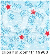 Clipart Of A Seamless Snowflake And Star Pattern Background Royalty Free Vector Illustration