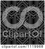 Clipart Of A Seamless Black And White Diamond Pattern Background Royalty Free Vector Illustration