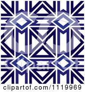 Clipart Of A Seamless Blue Diamond Pattern Background 4 Royalty Free Vector Illustration