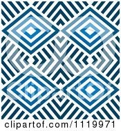 Clipart Of A Seamless Blue Diamond Pattern Background 1 Royalty Free Vector Illustration