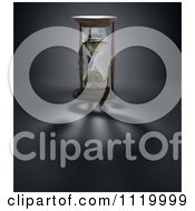 Clipart Of A 3d Hourglass With A Dollar Shadow Royalty Free CGI Illustration