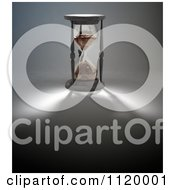Clipart Of A 3d Hourglass With A Shadow Royalty Free CGI Illustration