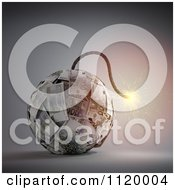 Clipart Of A 3d Lit Euro Bomb Royalty Free CGI Illustration