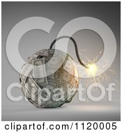 Clipart Of A 3d Lit Dollar Bomb Royalty Free CGI Illustration