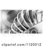 Clipart Of Abstract 3d Shiny Metal Rings Royalty Free CGI Illustration