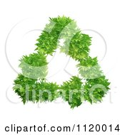 Clipart Of A 3d Green Leafy Triangle Of Recycle Arrows Royalty Free CGI Illustration