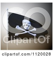 Clipart Of A 3d Waving Pirate Flag Royalty Free CGI Illustration by Mopic