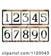 Door Numbers With Wooden Frames