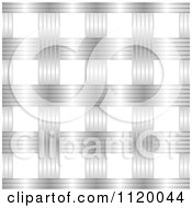 Clipart Of A Seamless Silver Metal Lattice Weave Pattern Royalty Free Vector Illustration by michaeltravers