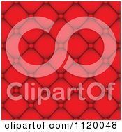 Seamless Red Leather Background Pattern