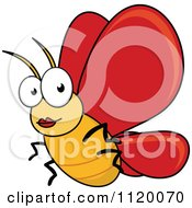Cartoon Of A Happy Butterfly Royalty Free Vector Clipart by Seamartini Graphics