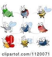 Cartoon Of Happy Bugs Royalty Free Vector Clipart by Seamartini Graphics
