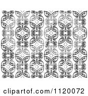 Clipart Of A Black And White Butterfly Seamless Background Pattern 2 Royalty Free Vector Illustration