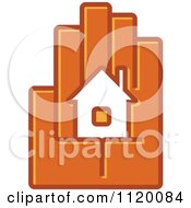 Clipart Of A House In The Palm Of A Hand 2 Royalty Free Vector Illustration
