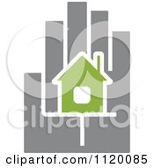 Clipart Of A House In The Palm Of A Hand 3 Royalty Free Vector Illustration