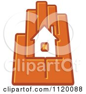 Clipart Of A House In The Palm Of A Hand 6 Royalty Free Vector Illustration