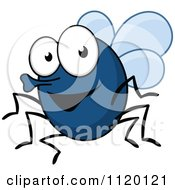 Cartoon Of A Happy Fly Royalty Free Vector Clipart by Seamartini Graphics