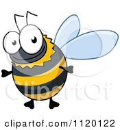 Cartoon Of A Happy Bee 1 Royalty Free Vector Clipart by Vector Tradition SM