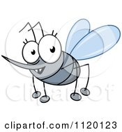 Cartoon Of A Happy Mosquito Royalty Free Vector Clipart