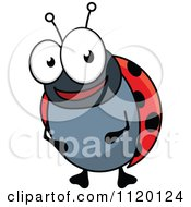Cartoon Of A Happy Ladybug Royalty Free Vector Clipart by Vector Tradition SM