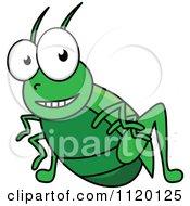 Cartoon Of A Happy Cricket Royalty Free Vector Clipart