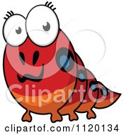 Cartoon Of A Happy Caterpillar Royalty Free Vector Clipart by Vector Tradition SM
