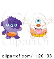 Cartoon Of Cute Monsters Royalty Free Vector Clipart