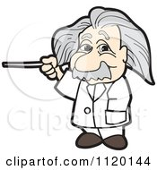Cartoon Of An Albert Einstein Royalty Free Vector Clipart