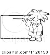 Cartoon Of A Black And White Albert Einstein Scientist Sign Or Logo 1 Royalty Free Vector Clipart by Toons4Biz