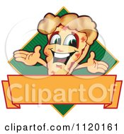Cartoon Of A Happy Pizza Mascot Sign Or Logo 8 Royalty Free Vector Clipart