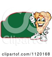 Cartoon Of A Happy Pizza Mascot Sign Or Logo 5 Royalty Free Vector Clipart