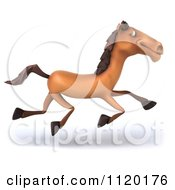 Clipart Of A 3d Horse Running Royalty Free CGI Illustration by Julos