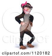 3d Flirty Female Chimp